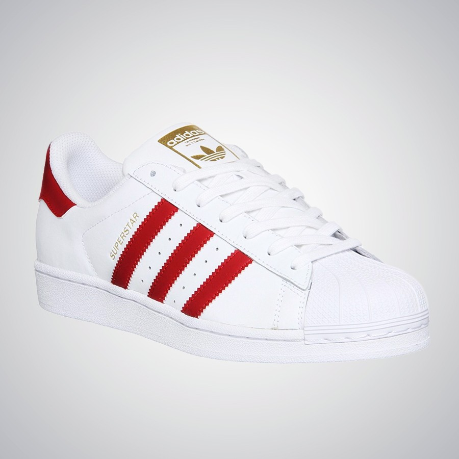 Zapatillas Adidas Superstar Blancas T/Rojas